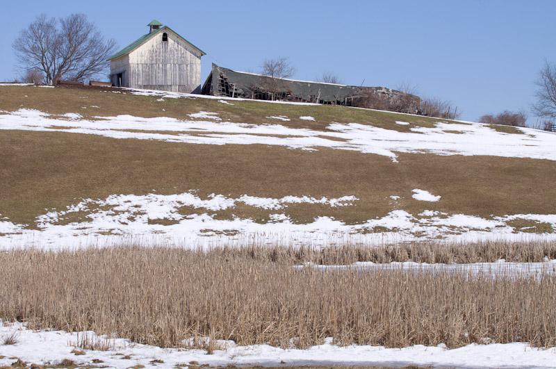 hillside with barn-3021