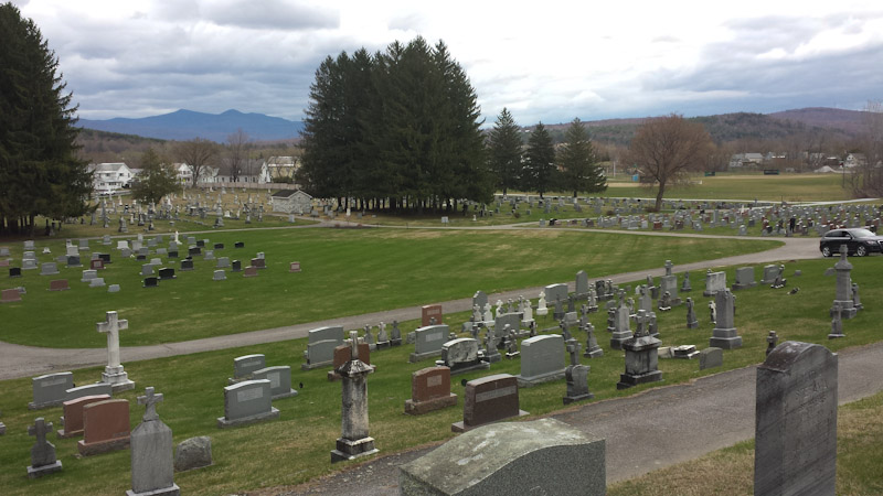 cemetery and mountains-123125